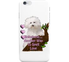 Bolognese, Another Way To Spell Love iPhone Case/Skin