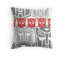 The Iconic Autobots (white) Throw Pillow