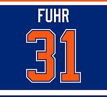 Edmonton Oilers Grant Fuhr Jersey Back Phone Case by Russ Jericho