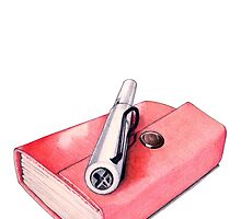 Red Mini Sketchbook by Mariana Musa
