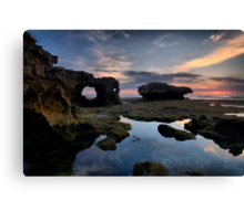 Eroded Sandstone Sunset Canvas Print