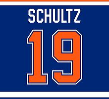 Edmonton Oilers Justin Schultz Jersey Back Phone Case by Russ Jericho