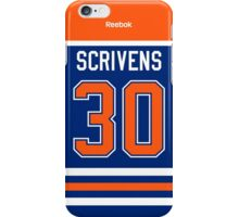 Edmonton Oilers Ben Scrivens Jersey Back Phone Case iPhone Case/Skin
