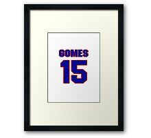 National baseball player Jonny Gomes jersey 15 Framed Print