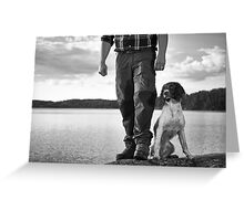 Hunter and puppy Greeting Card