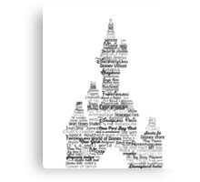 disney paris castle names Metal Print