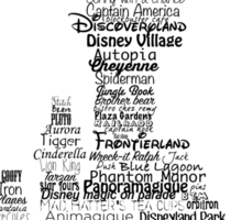 disney paris castle names Sticker