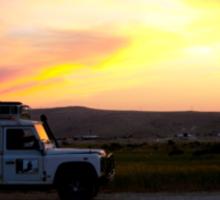 Sunset In The Desert Sticker