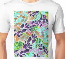 Floral Abstract Artwork Unisex T-Shirt