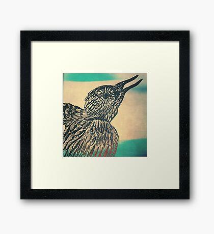 she's a bird Framed Print