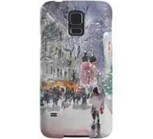 Snowing At Christmas Time Samsung Galaxy Case/Skin