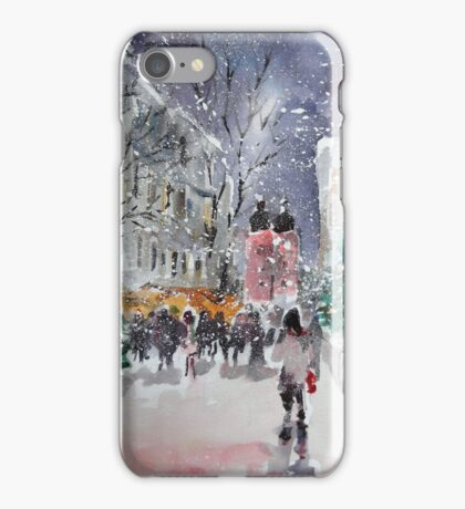 Snowing At Christmas Time iPhone Case/Skin