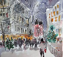 Snowing At Christmas Time by Ballet Dance-Artist
