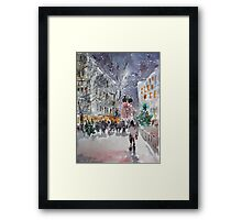 Snowing At Christmas Time Framed Print