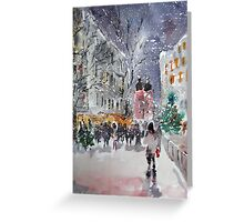 Snowing At Christmas Time Greeting Card