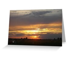 Sunset in The Counrty Greeting Card