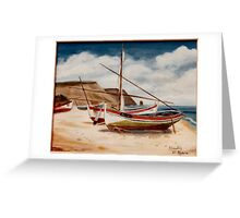 Fishing boats Algarve after Van Gogh Greeting Card