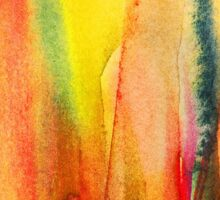 Abstract watercolor painting - fire flames Sticker