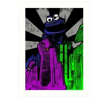 Cookie Monster Rampage! Art Print