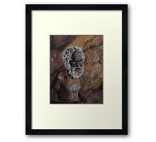 Dreamtime Elder Framed Print