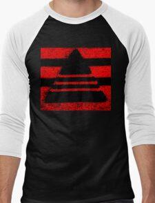 Crochet pyramid digitally manipulated Men's Baseball ¾ T-Shirt