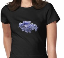 Pretty Plumbago with Raindrops Womens Fitted T-Shirt