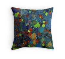 Gravestone Lichens 2 Throw Pillow