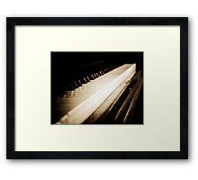 Sepia Piano Keyboard Framed Print