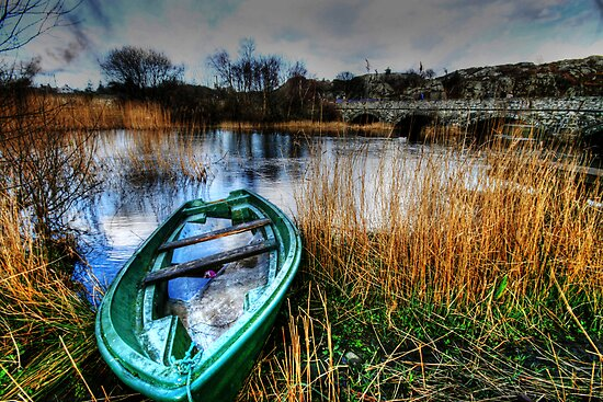 Boat by the Lakeside by john0