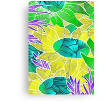 Floral Abstract Artwork Canvas Print