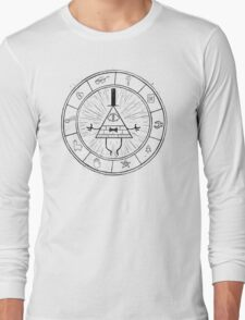 Gravity Falls Bill Cipher - Black on White Long Sleeve T-Shirt