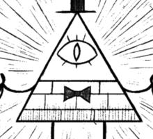 Gravity Falls Bill Cipher - Black on White Sticker
