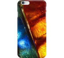 Stained glass mosaic, abstract colorful pattern iPhone Case/Skin