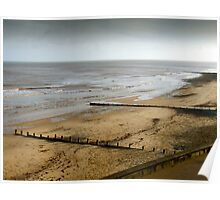 Cromer Beach North Norfolk at low tide Poster