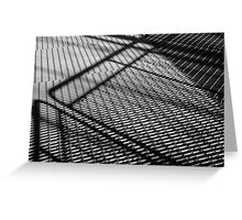 Steel construction - Black and white photograph Greeting Card