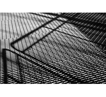 Steel construction - Black and white photograph Photographic Print