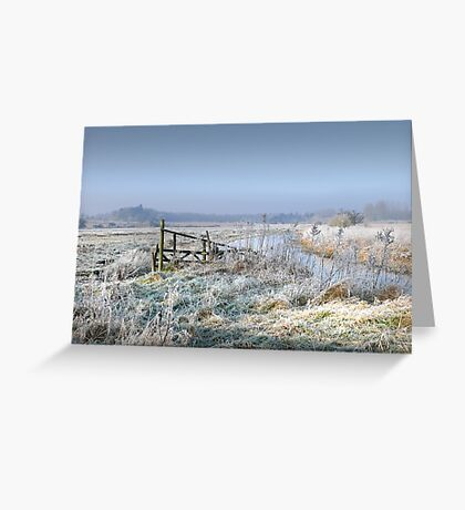 A  Frosty start to the day in North Norfolk Greeting Card
