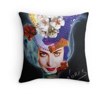 Tulip on the wind Throw Pillow