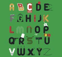 Pop culture alphabet One Piece - Short Sleeve