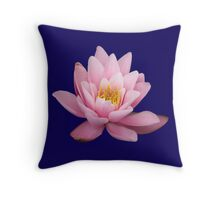 Pink waterlily. Throw Pillow