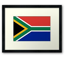 National flag of the Republic of South Africa Authentic version Framed Print