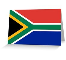 National flag of the Republic of South Africa Authentic version Greeting Card