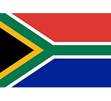 National flag of the Republic of South Africa Authentic version Photographic Print