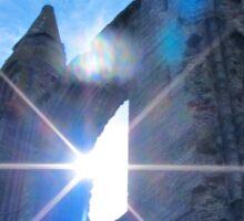 St Andrews Cathedral Sunglare Angel Sticker