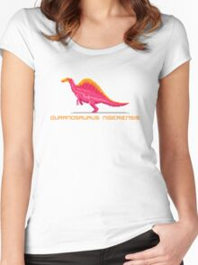 Pixel Ouranosaurus Women's Fitted Scoop T-Shirt