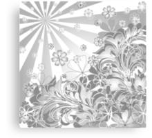 monochrome flowers Canvas Print
