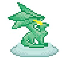 Crystal Dragon Statue Spyro Photographic Print
