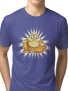 Happy Buddha Tri-blend T-Shirt