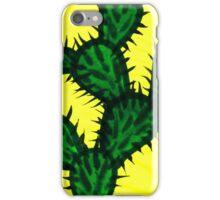 Chinese brush painting - Opuntia cactus. iPhone Case/Skin