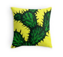 Chinese brush painting - Opuntia cactus. Throw Pillow